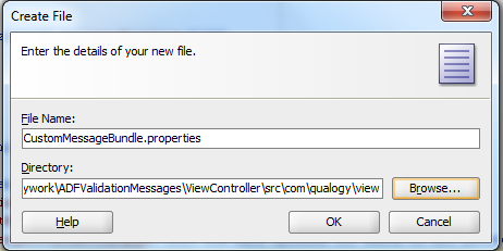 Fig 6: Create file dialog
