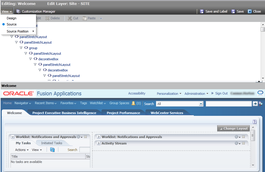 Working with the page composer in Oracle Fusion - Qualogy
